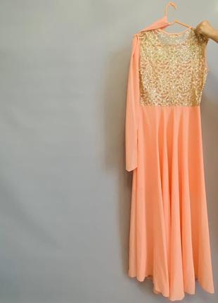Новое вечернее длинное платье.2 фото