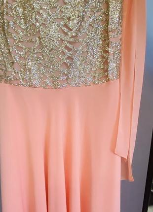 Новое вечернее длинное платье.4 фото