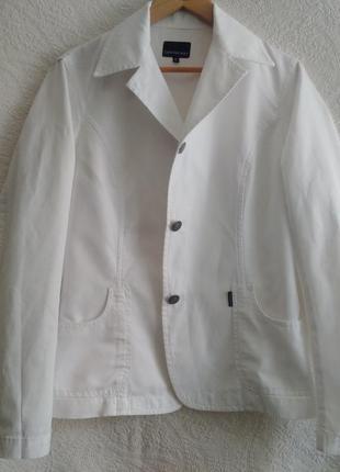 Белоснежный, жакет, пиджак, лён, коттон, calvin klein jeans