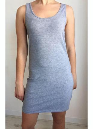 Платье, плаття-майка, платье-майка, летнее, повседневное, серое платье.
