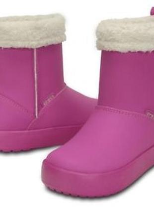 Детские зимние сапоги crocs colorlite gs boots, 100% оригинал