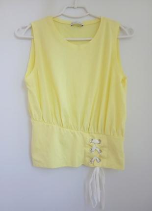 Жёлтый лимонный топ zara