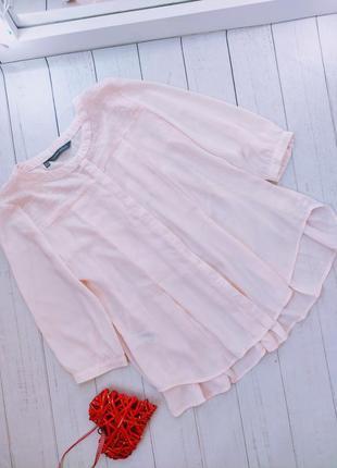 Блуза, блузка шифоновая, персиковая, laura ashley.