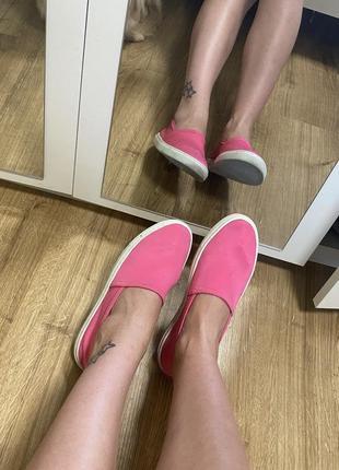 Слипоны, балетки l.a.p.t.i, lapti, розовые яркие лапти оригинал