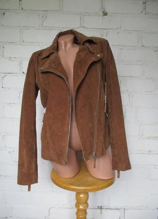 Куртка косуха из натуральной замши/m-l