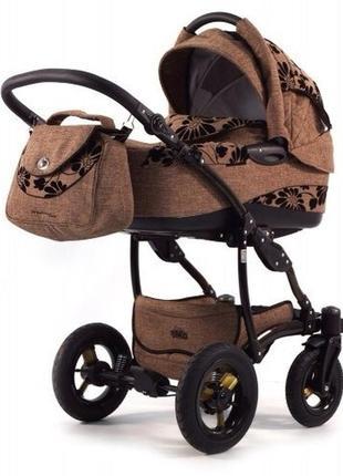Коляска универсальная tako 2в1 прогулка люлька. тако modern line. 2в1( люлька, прогулка) ткань лен надувные колеса.