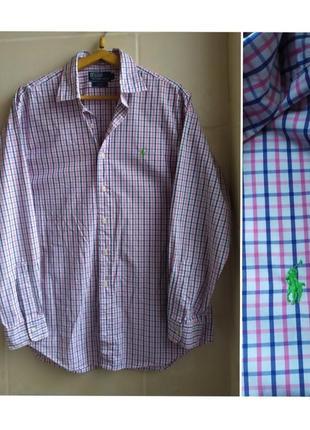 "Шикарная рубашка ""  polo ralph lauren"" ( оригинал)"