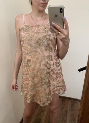 Плаття в паєтках міні