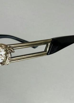 Versace стильные солнцезащитные очки унисекс светло серые в серебристом металле10 фото