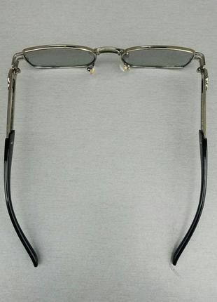 Versace стильные солнцезащитные очки унисекс светло серые в серебристом металле5 фото