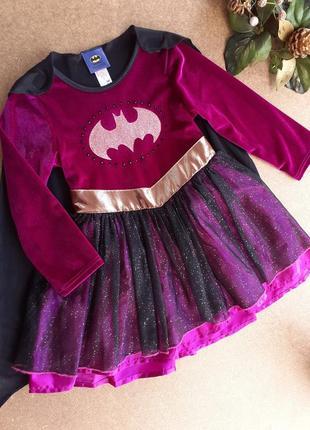 Карнавальное платье 3-4 года бэтмен, супергерой, подруга бэтмена tu