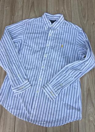 Стильная актуальная рубашка полосатая в полоску polo ralph lauren