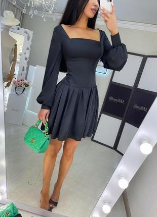 Нарядное платье с обьемными рукавами