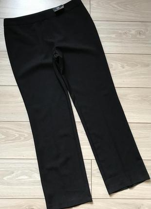 Классические чёрные брюки штаны прямого кроя xl