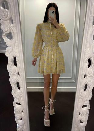 Нежное шифоновое платье с имитацией корсета