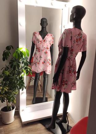 Нежное вискозное платье на запах в цветочный принт💕