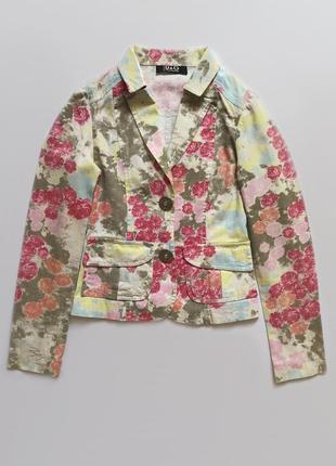 Жакет цветочный принт винтаж 90-е