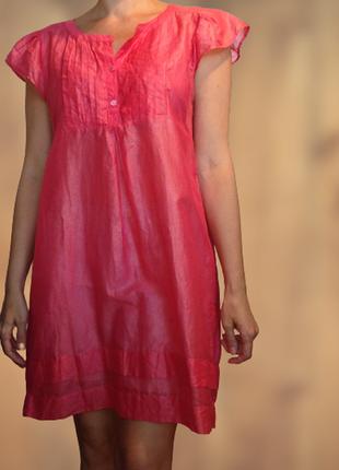 Bruuns bazaar датская шелковая супер-нежная туника/блуза/платье
