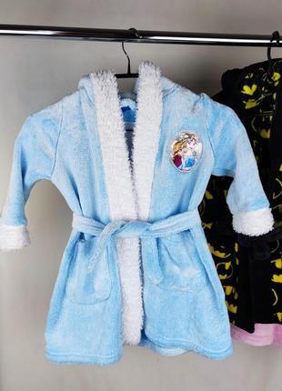 Красивый брендовый мягкий теплый халат с капюшоном холодное сердце эльза disney