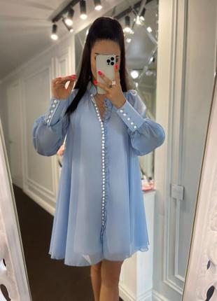 Нежное платье с шифона