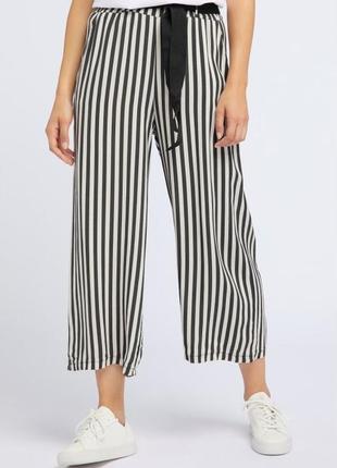 Штаны брюки кюлоты легкие 100% вискоза широкие юбка-брюки р. s-m broadway германия