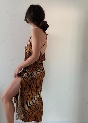 Миди платье-комбинация topshop