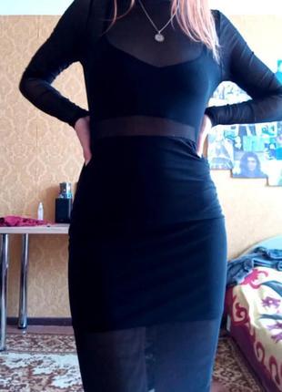 Полупрозрачное платье 💫