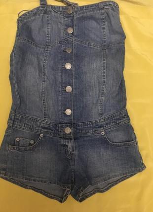 Классный джинсовый комбинезон denim