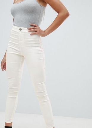 Классные белые джеггинсы с высокой посадкой/штаны/брюки/джинсы