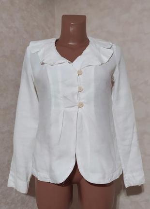 Льняная белая блуза transit par such, s, италия