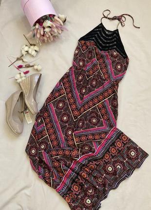 Вискоза 100%длинный сарафан платье в стиле zara