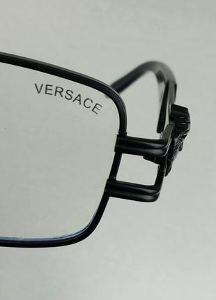 Versace очки имиджевые оправа для очков унисекс в черной металлической оправе9 фото
