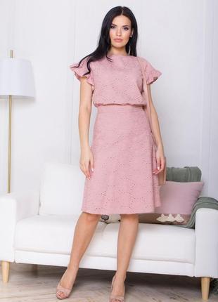 Комплект юбка и блуза из прошвы