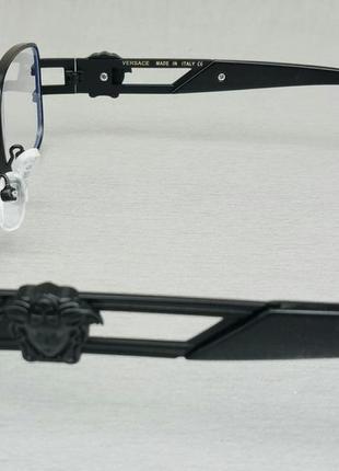 Versace очки имиджевые оправа для очков унисекс в черной металлической оправе4 фото