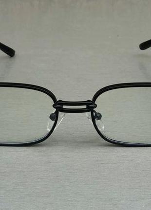 Versace очки имиджевые оправа для очков унисекс в черной металлической оправе2 фото