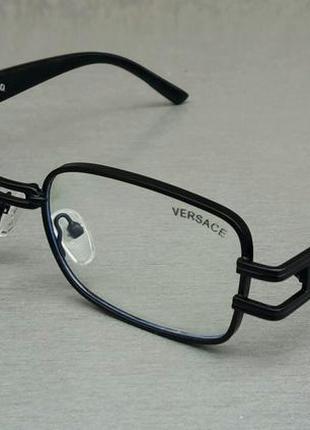 Versace очки имиджевые оправа для очков унисекс в черной металлической оправе