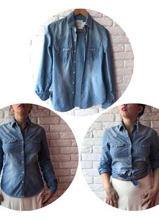 Джинсовая рубашка 👔 на кнопках