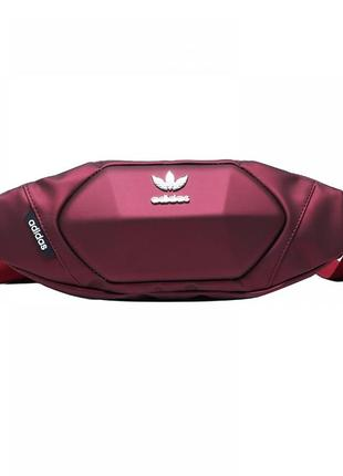 Бананка adidas red барсетка красная поясная сумка адидас женская / мужская3 фото