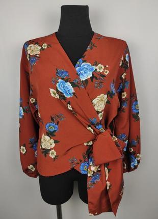 Блуза на запах шикарная свободного кроя primark uk 10/38/s