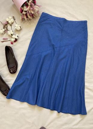 Лен льняная юбка в стиле zara boohoo