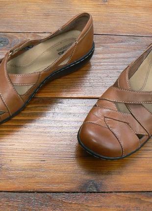 Женские туфли оксфорды clarks bendables 37 размер 24,5 ст.