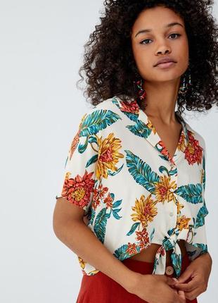 Рубашка топ с завязками / большая распродажа!