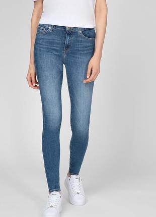 Tommy hilfiger женские синие джинсы th flex como skinny rw a izzy