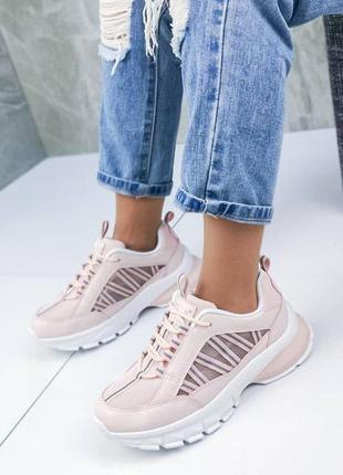 Распродажа! модные розовые пудровые кроссовки размер 35,36,37,383 фото