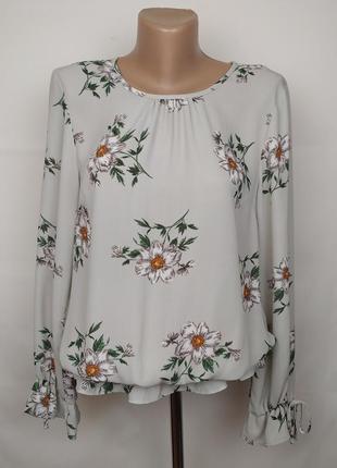 Блуза легкая красивая в ромашки uk 12/40/m