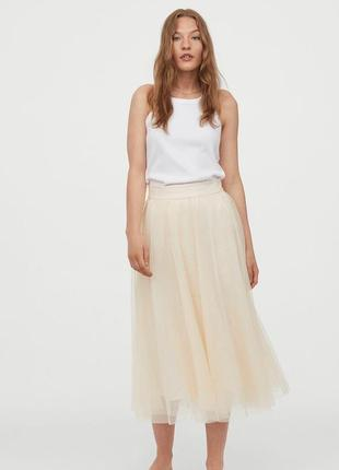 H&m трендовая пудровая юбка