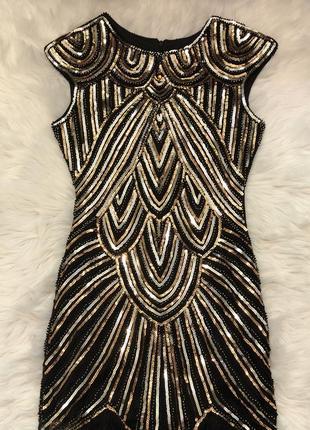 Вечірня сукня гетсби s-m 44-46 38 бахромою бахромой платье нарядное пайетках блестящие
