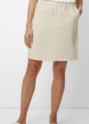 Белая юбка из 100% льна marc o polo