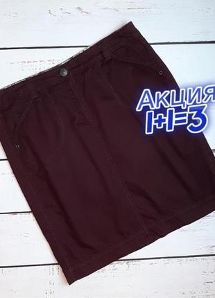 1+1=3 отличная темно-фиолетовая юбка карандаш до колен cecil, размер 48 - 50