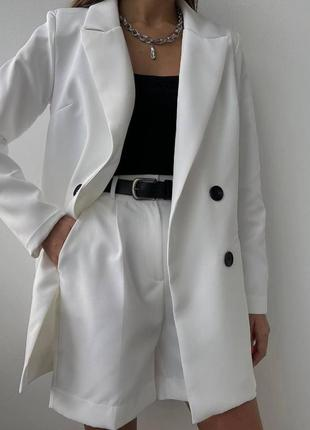 ❤ костюм женский шорты бермуды пиджак оверсайз